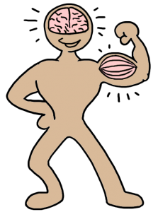 Body with brain and muscle